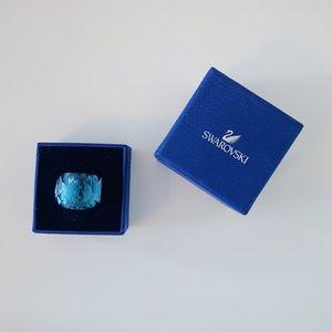 SWAROVSKI BLUE NIRVANA RING SIZE 55 WORN ONCE